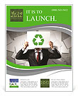 Image of man holding board with recycling sign Flyer Template