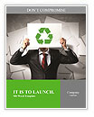 Image of man holding board with recycling sign Word Templates