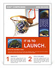 Planet earth falling into the basketball basket by a perfect shot. 3 D digital rendering, On white b Flyer Template