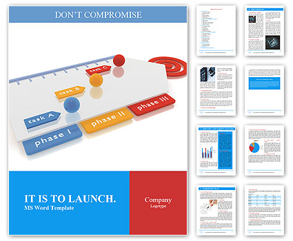 Project Management Timeline Word Template Design Id 0000009489