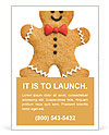 Gingerbread man Ad Template