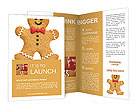 Gingerbread man Brochure Templates