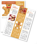 Gingerbread man Newsletter Template