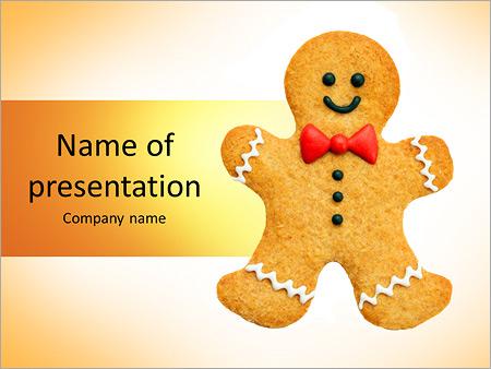 Gingerbread man PowerPoint Template Backgrounds ID 0000009490 – Gingerbread Man Template