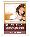 Cute little girl studying at the library and smiling Ad Templates