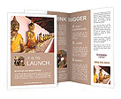 Row of Sacred Buddha images in Brochure Template