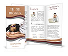 Woman businesswoman with giant alarm clock Brochure Templates
