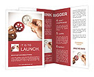 Partnership concept with gear and businessmsn Brochure Templates