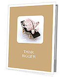 Brain that rests on a chaise longue, the concept of relaxing the mind Presentation Folder