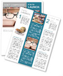 Closeup of reading glasses on the book. shot in the library Newsletter Templates