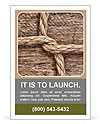 Frame made of rope on a wooden background Ad Template