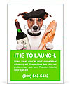 French dog wine baguette beret Ad Templates