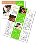 French dog wine baguette beret Newsletter Template