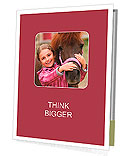 Horse and lovely girl - best friends Presentation Folder