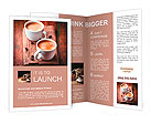 Two cups of espresso on brown napkin Brochure Templates