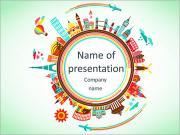 Cestování a cestovní ruch pozadí a infographic Stock vektorové ilustrace: PowerPoint šablony