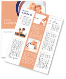 Picture of happy mother and child with laptop computer Newsletter Templates