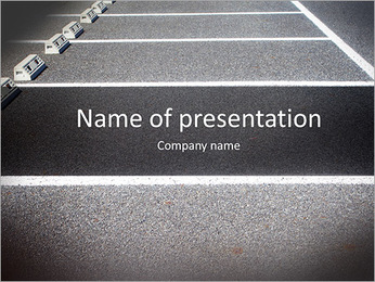 Empty Space in a Parking Lot PowerPoint Template