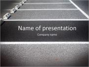 Empty Space in a Parking Lot PowerPoint Templates