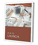 Architectural model of a modern building Presentation Folder