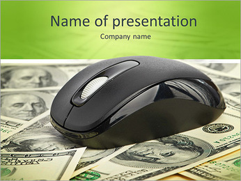 US Dollars and Computer Mouse PowerPoint Template
