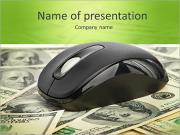 US Dollars and Computer Mouse PowerPoint Templates