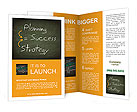Success concept handwritten with white chalk on a blackboard Brochure Templates