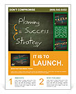 Success concept handwritten with white chalk on a blackboard Flyer Template
