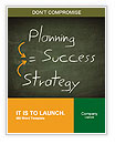 Success concept handwritten with white chalk on a blackboard Word Template