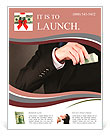 Business man hiding money in pocket on black background Flyer Template