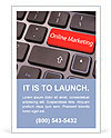 Online marketing or internet marketing concepts, with message on enter key of keyboard. Ad Templates