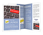 Online marketing or internet marketing concepts, with message on enter key of keyboard. Brochure Templates