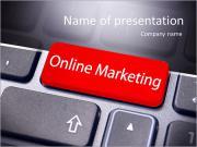 Интернет маркетинг или интернет-маркетинга концепции, с сообщением на клавишу ввода на клавиатуре. Шаблоны презентаций PowerPoint