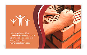 Construction Bricks Laying Business Card Template Design ID - Construction business card templates