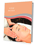 Young woman receiving massage - SPA Presentation Folder