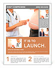 Woman doctor with a medical examination in obese patient Flyer Template