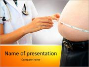 Diagnosis powerpoint template smiletemplates woman doctor with a medical examination in obese patient powerpoint template toneelgroepblik Choice Image