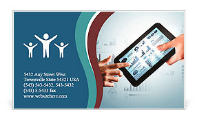 Modern computer technology in business illustration with wireless device Business Card Template