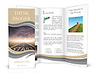 Concept of start straight for business Brochure Templates