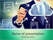 Cloud computing, technology connectivity concept PowerPoint Templates