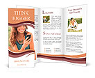 Happy Woman Looking and Text Messaging On The Smart Phone Brochure Templates
