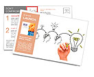 Teamwork builds big idea Postcard Template