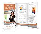 Beautiful businesswoman portrait Brochure Templates