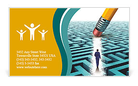 Leadership Solutions with a businessman Business Card Template