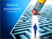 Leadership Solutions with a businessman PowerPoint Templates