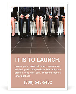 Stressful people waiting for job interview Ad Template & Design ID ...