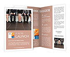 Stressful people waiting for job interview Brochure Template