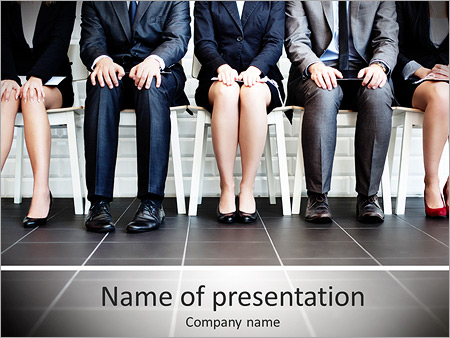 Stressful people waiting for job interview powerpoint template stressful people waiting for job interview powerpoint templates toneelgroepblik Choice Image