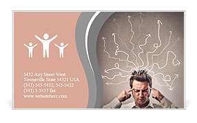 Man focuses with closed eyes Business Card Templates