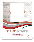 Businessman holding white blank poster Poster Template